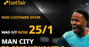 Man City vs Newcastle offer